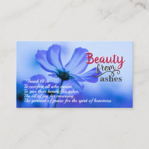 Isaiah 61 3 Beauty For Ashes Verse Business Card