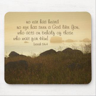 Isaiah 64:4 Bible Verse Beautiful Ocean Shorline Mouse Pad