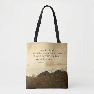 Isaiah 64:4 Bible Verse Beautiful Ocean Shorline Tote Bag