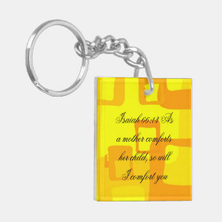Isaiah 66:13 Double-Sided square acrylic keychain