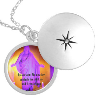 Isaiah 66:13 silver plated necklace