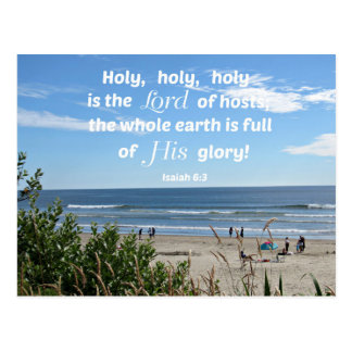Isaiah 6:3 Holy, holy, holy is the Lord of hosts.. Postcard