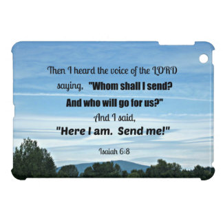 Isaiah 6:8 Then I heard the voice of the Lord iPad Mini Covers