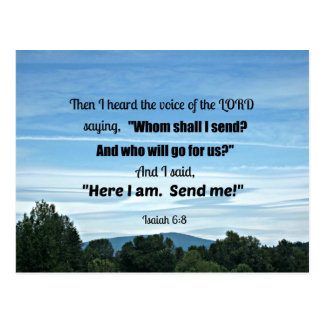 Isaiah 6:8 Then I heard the voice of the Lord Postcard
