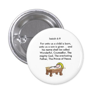 Isaiah 6:9 Round Button