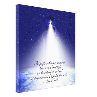 Isaiah 9:2 Christmas Stretch Canvas Print