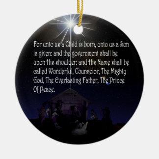 Isaiah 9:6-7 CHRISTMAS ORNAMENT BETHLEHEM