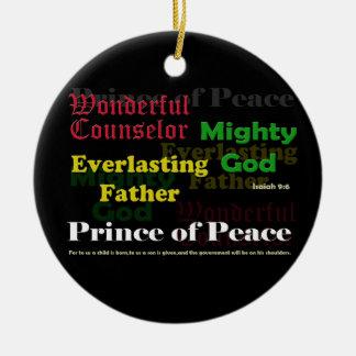 Isaiah 9:6 Christmas Ornament