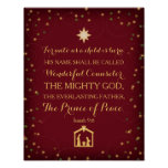 Isaiah 9:6 For Unto Us A Child Is Born (11x14) Posters