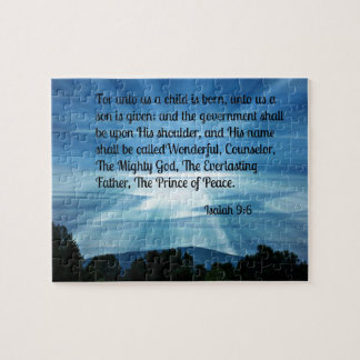 Isaiah 9:6 For unto us a child is born... Jigsaw Puzzle