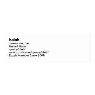 isaiah, alexandria, mn, United States, qwerty66... Mini Business Card