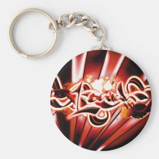 Isaiah Basic Round Button Keychain