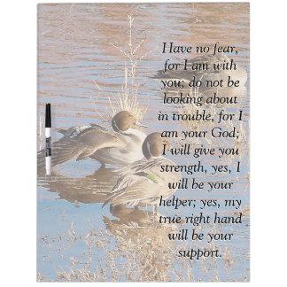 Isaiah Bible Scripture Pintail Ducks Board