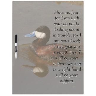 Isaiah Bible Scripture Ruddy Duck Bird Board