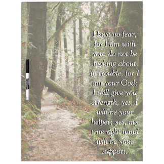 Isaiah Bible Verse Scripture Forest Path Board