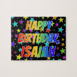 "[ Thumbnail: ""Isaiah"" First Name, Fun ""Happy Birthday"" Jigsaw Puzzle ]"
