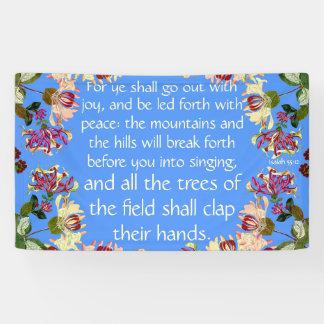 Isaiah Go Forth with Joy Church Christian Banner