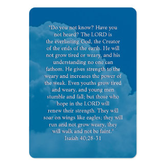 Isaías 40; 28-31- señal inspirada plantilla de tarjeta de visita