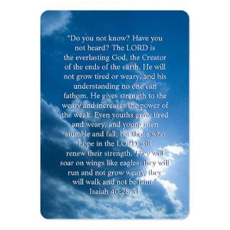 Isaías 40; 28-31- señal inspirada tarjetas de negocios