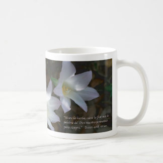 Isaias 40:8 Tazon con Lirios Coffee Mug