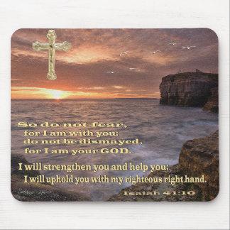 Isaías 41 cojín de ratón de 10 cristianos alfombrilla de ratones