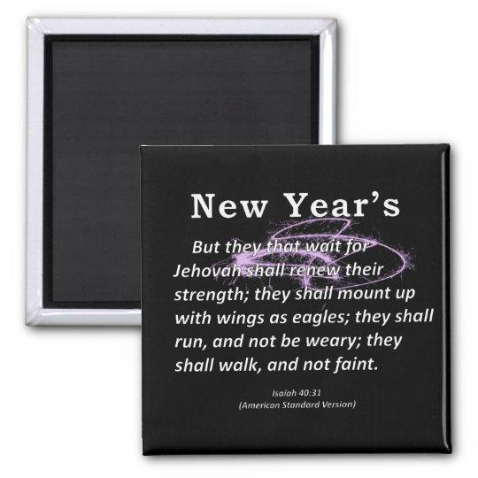 Isaías del Año Nuevo 40-31 Imán Cuadrado