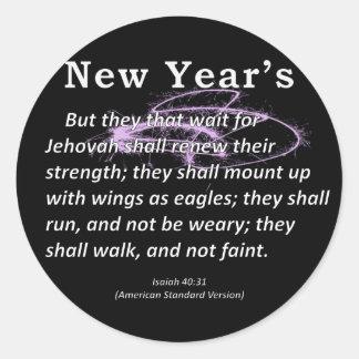 Isaías del Año Nuevo 40-31 Pegatina Redonda