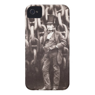 Isambard Kingdom Brunel, standing in front of the iPhone 4 Cover