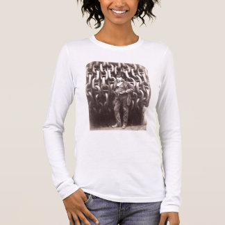 Isambard Kingdom Brunel, standing in front of the Long Sleeve T-Shirt