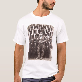 Isambard Kingdom Brunel, standing in front of the T-Shirt
