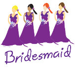 bridesmaids gifts for purple weddings