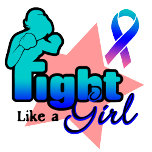 *Fight Like a Girl (Boxing Gloves) Thyroid Cancer