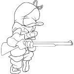 Elmer Fudd with his gun