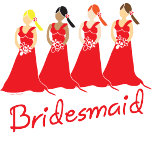 red bridesmaids gifts