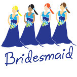 blue bridesmaids gifts