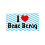 I Love Bene Beraq, Israel Label