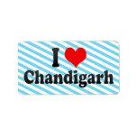 I Love Chandigarh, India Label