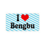 I Love Bengbu, China Label