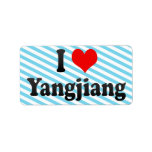 I Love Yangjiang, China Label
