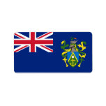 Flag of the Pitcairn Islands  Labels