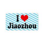 I Love Jiaozhou, China. Wo Ai Jiaozhou, China Label