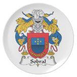 Sobral Family Crest Melamine Plate