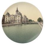 Rhone and Rhine Canal, Mulhouse, France Melamine Plate
