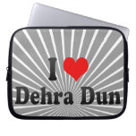 I Love Dehra Dun, India Laptop Sleeve