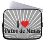 I Love Patos de Minas, Brazil Laptop Sleeve