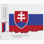 Slovakia Flag 3 Ring Binder