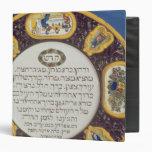 Fayeme Passover Dish,by Isaac Cohen of Pesaro 3 Ring Binder