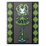 Jinxy Pixie Stick Green Jester Fairy Notebook