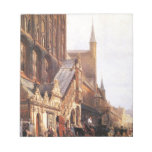 Cityhall in Lbeck by Cornelis Springer Notepad