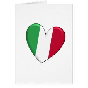 Italy Heart Flag Card